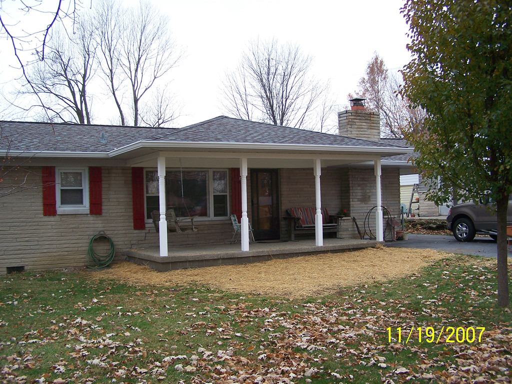 Room addition covered front porch Room addition