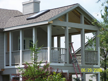 Projects Gt Two Story Porch Addition