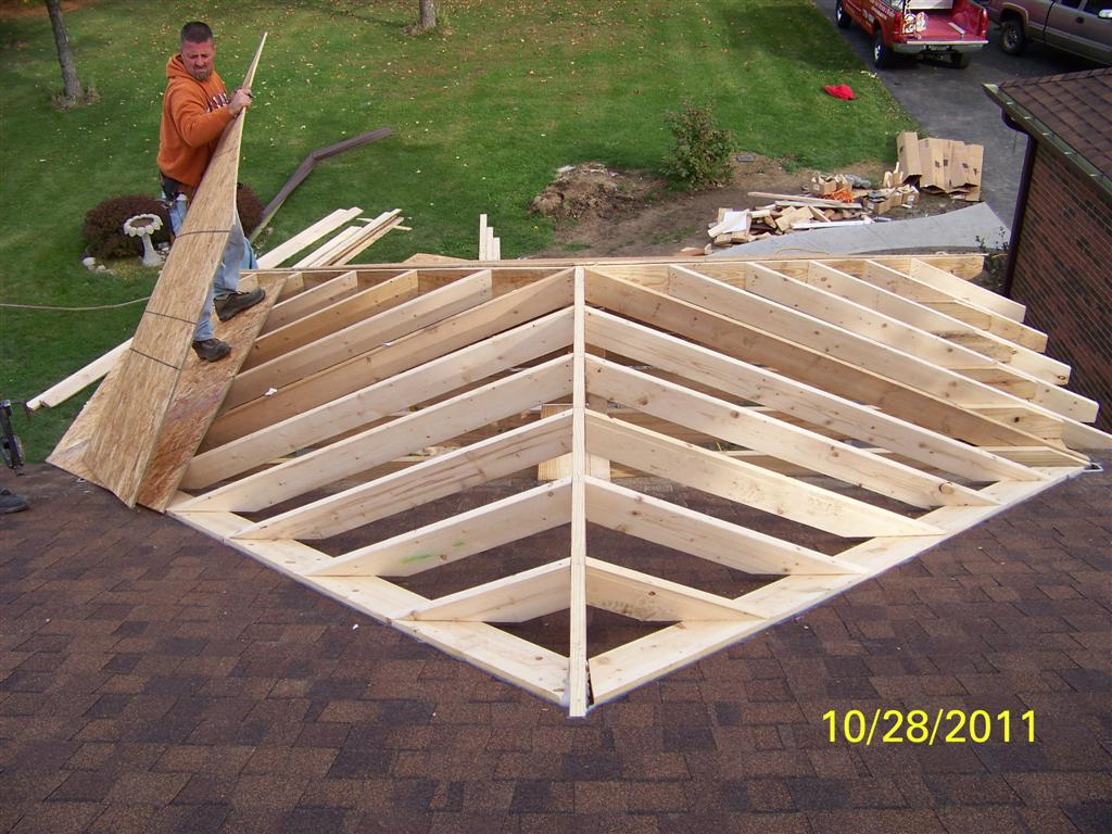 Front porch for Roof addition